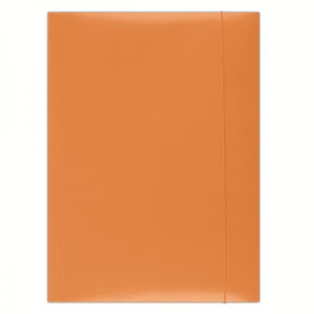Mapa carton cu elastic 300g/mp portocalie, DONAU