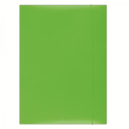 Mapa carton cu elastic 300g/mp verde, DONAU