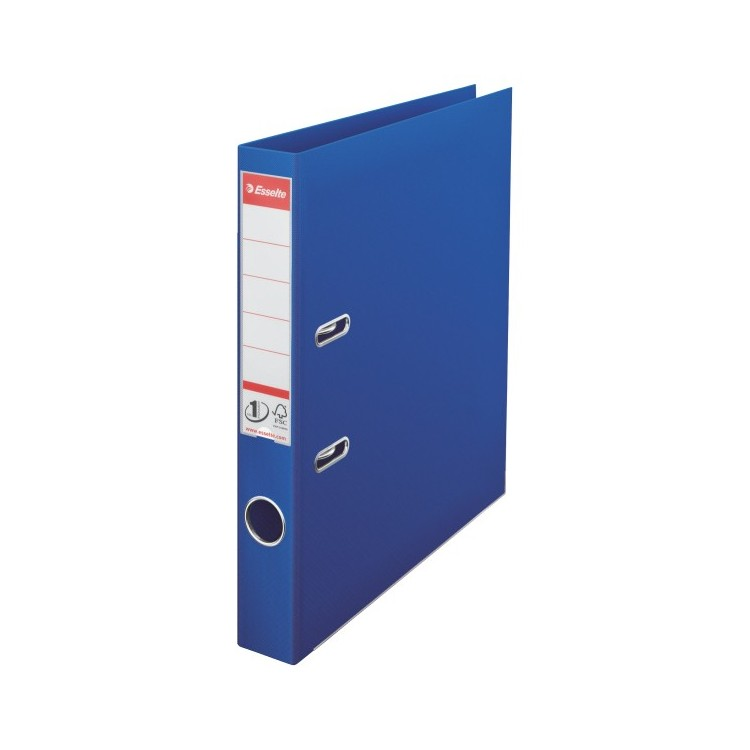 Biblioraft dublu plastifiat 5cm albastru, ESSELTE Standard