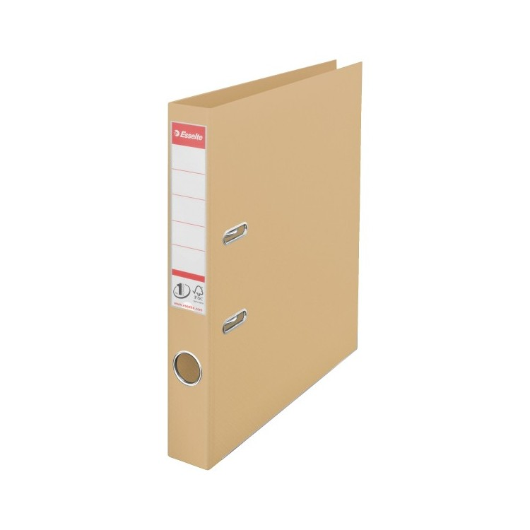 Biblioraft dublu plastifiat 5cm auriu nisip, ESSELTE Standard