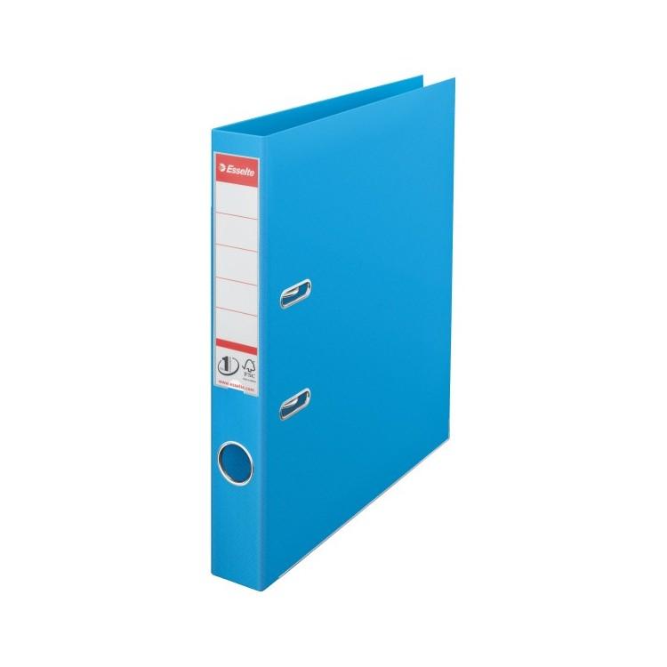 Biblioraft dublu plastifiat 5cm cyan, ESSELTE Standard