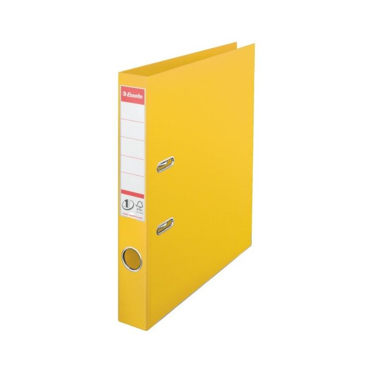 Biblioraft dublu plastifiat 5cm galben, ESSELTE Standard