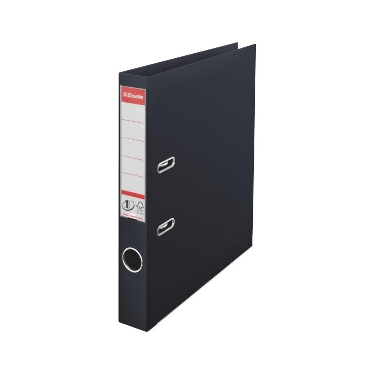 Biblioraft dublu plastifiat 5cm negru, ESSELTE Standard Vivida