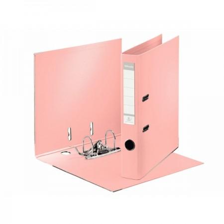 Biblioraft dublu plastifiat 5cm piersica, ESSELTE Standard