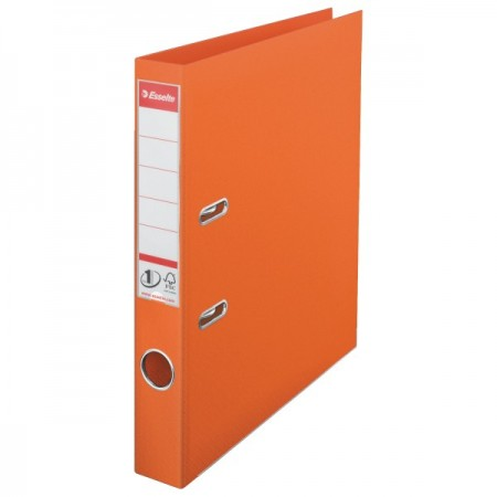 Biblioraft dublu plastifiat 5cm portocaliu, ESSELTE Standard