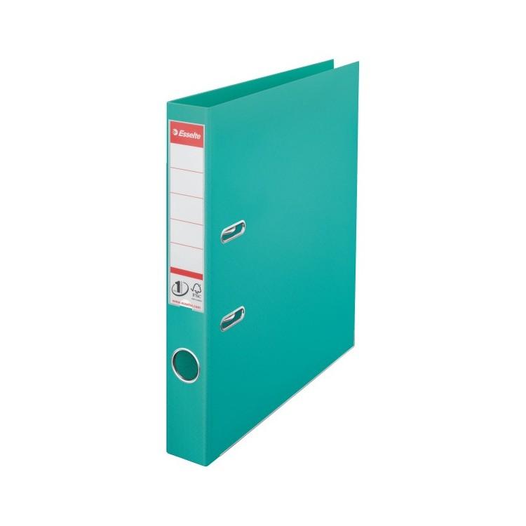 Biblioraft dublu plastifiat 5cm turcoaz, ESSELTE Standard