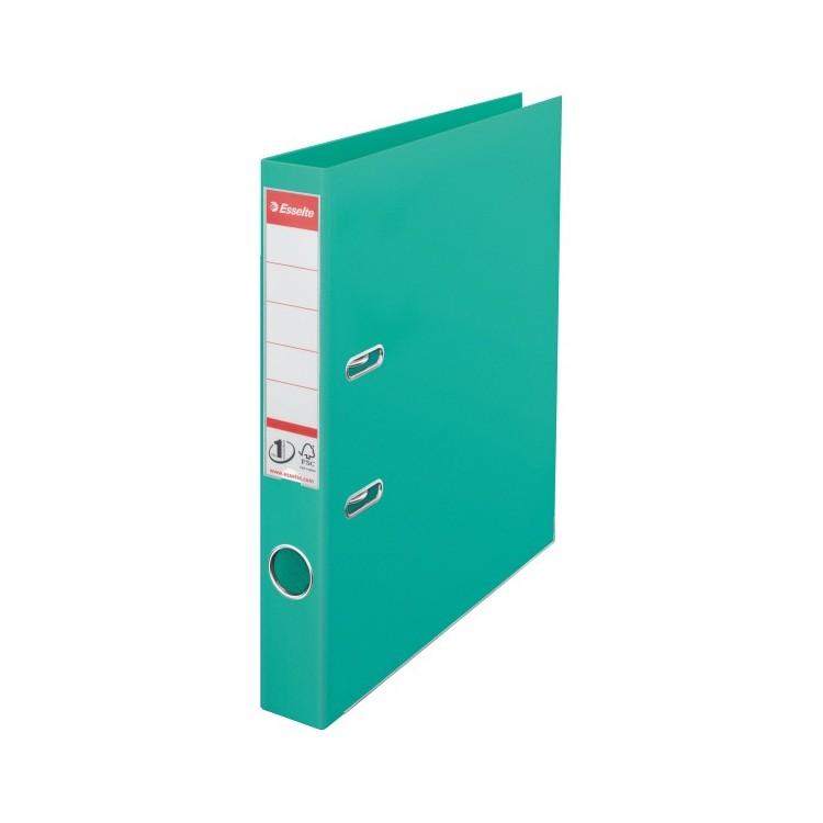 Biblioraft dublu plastifiat 5cm verde menta, ESSELTE Standard