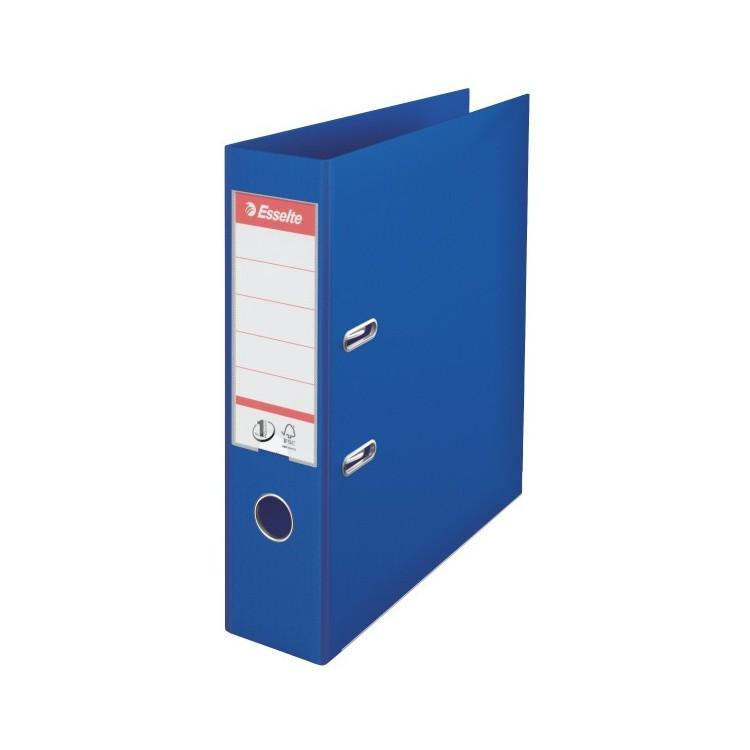 Biblioraft dublu plastifiat 7.5cm albastru, ESSELTE Standard