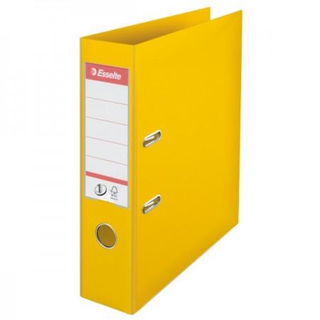 Biblioraft dublu plastifiat 7.5cm galben, ESSELTE Standard