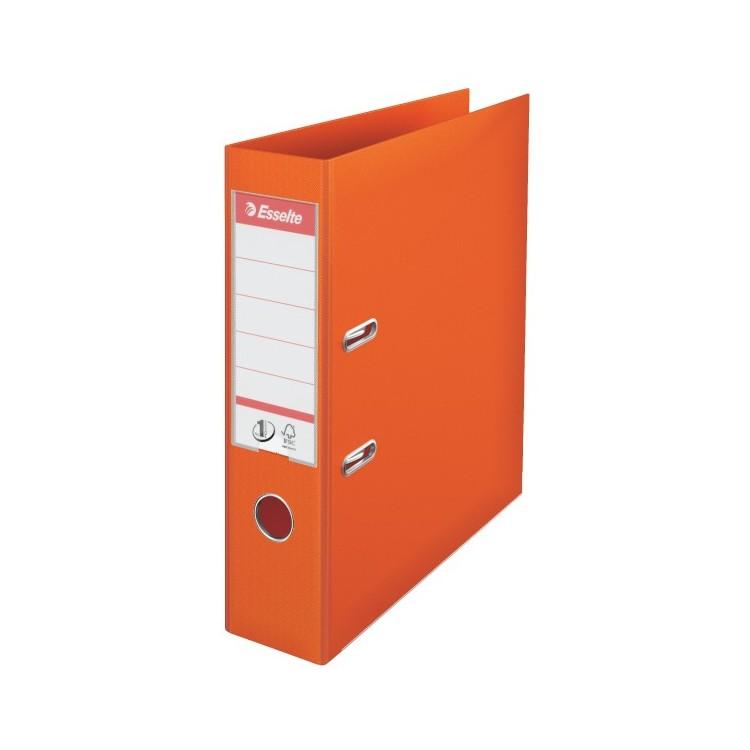 Biblioraft dublu plastifiat 7.5cm portocaliu, ESSELTE Standard