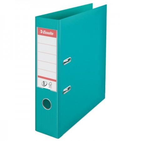 Biblioraft dublu plastifiat 7.5cm turcoaz, ESSELTE Standard