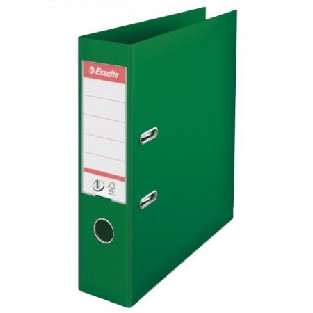 Biblioraft dublu plastifiat 7.5cm verde, ESSELTE Standard