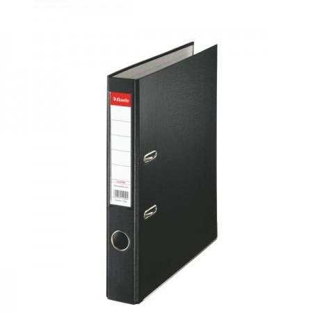 Biblioraft plastifiat 5cm negru, ESSELTE Economy