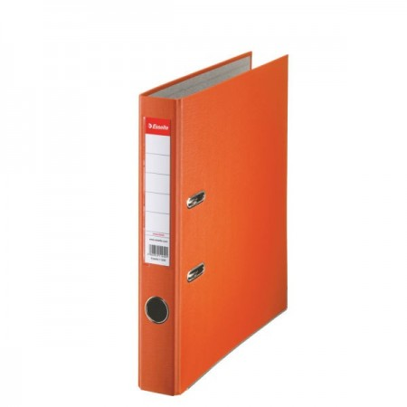 Biblioraft plastifiat 5cm portocaliu, ESSELTE Economy