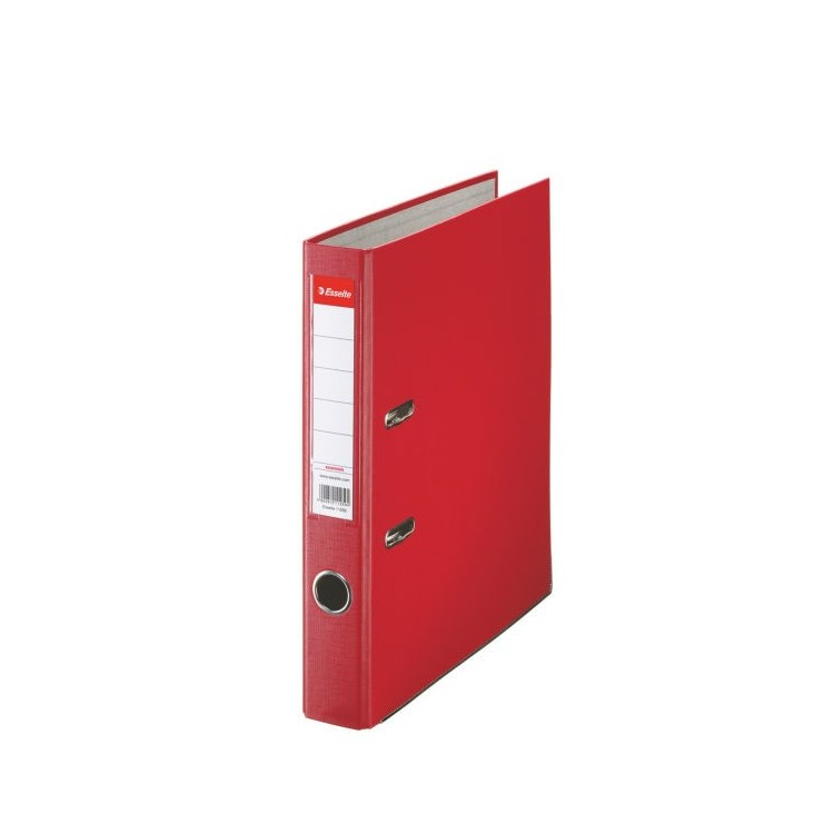 Biblioraft plastifiat 5cm rosu, ESSELTE Economy
