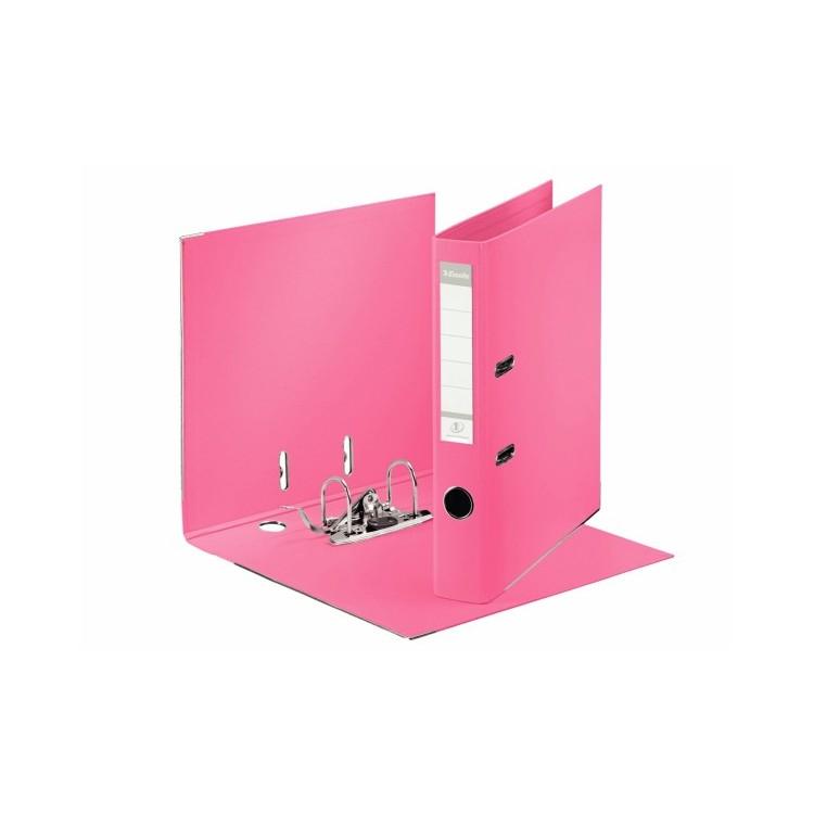 Biblioraft dublu plastifiat 5cm roz, ESSELTE Standard