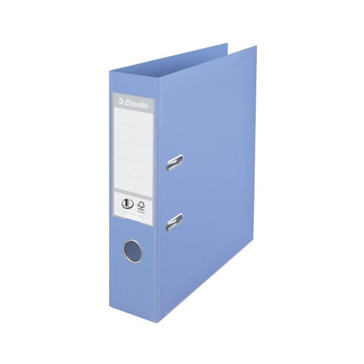 Biblioraft dublu plastifiat 7.5cm albastru deschis, ESSELTE Standard