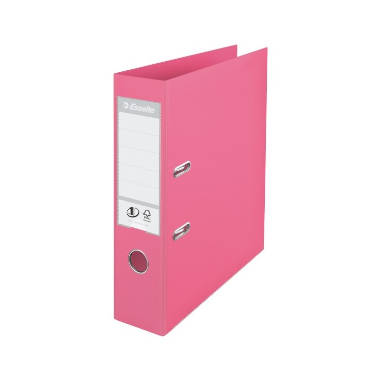 Biblioraft dublu plastifiat 7.5cm roz, ESSELTE Standard