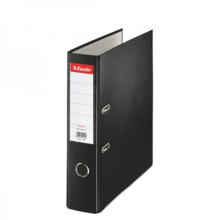 Biblioraft plastifiat 7.5cm negru, ESSELTE Economy