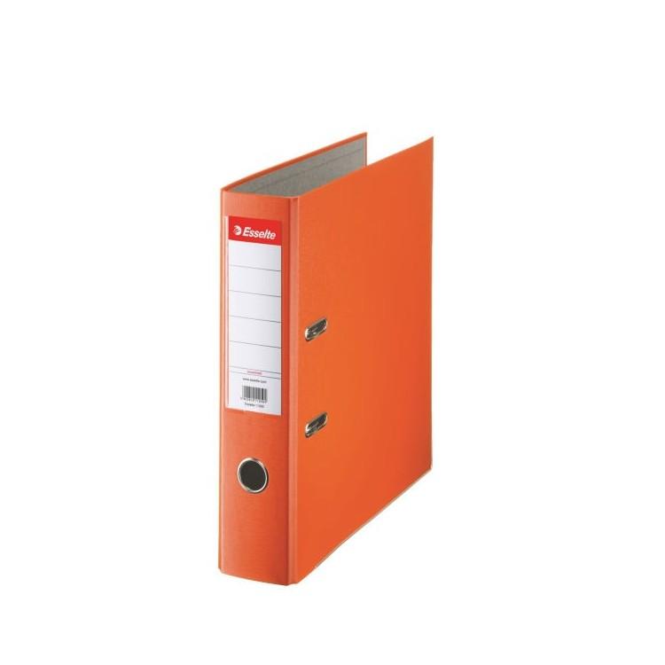 Biblioraft plastifiat 7.5cm portocaliu, ESSELTE Economy