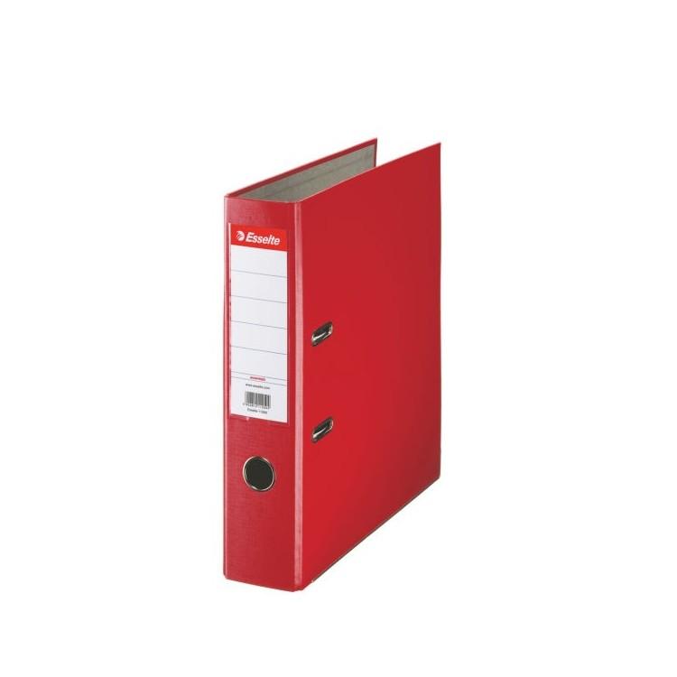 Biblioraft plastifiat 7.5cm rosu, ESSELTE Economy