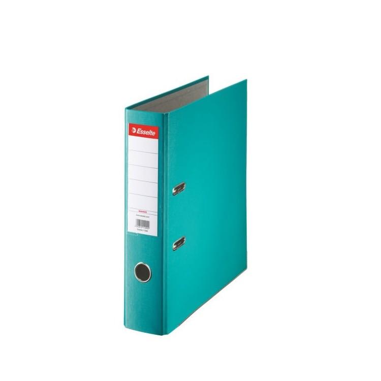 Biblioraft plastifiat 7.5cm turcoaz, ESSELTE Economy