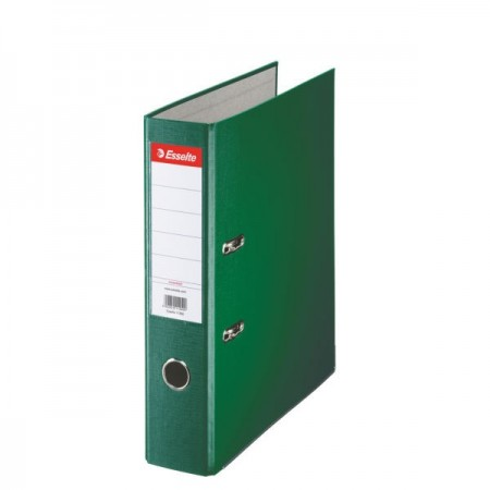 Biblioraft plastifiat 7.5cm verde, ESSELTE Economy