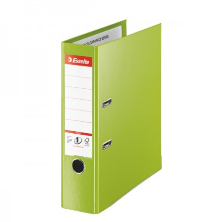 Biblioraft dublu plastifiat 8cm verde, ESSELTE Jumbo Plus