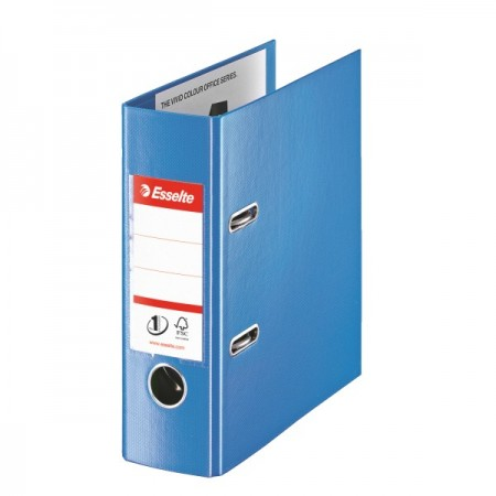 Biblioraft dublu plastifiat A5 7.5cm albastru, ESSELTE Standard Vivida