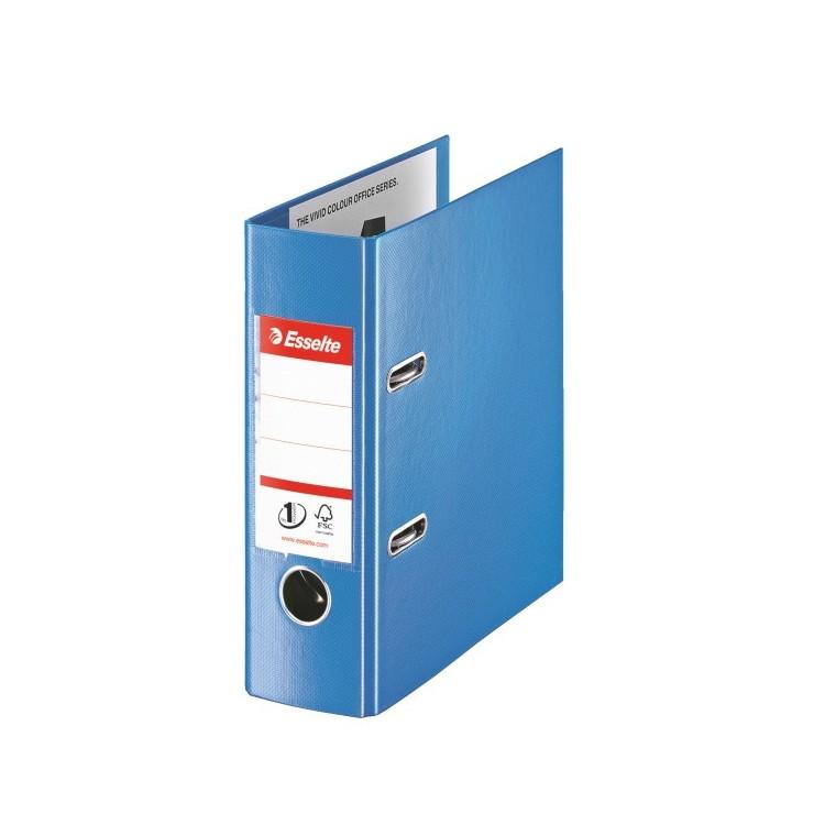 Biblioraft dublu plastifiat A5 7.5cm albastru, ESSELTE Standard
