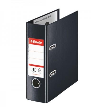 Biblioraft dublu plastifiat A5 7.5cm negru, ESSELTE Standard