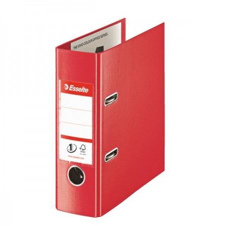 Biblioraft dublu plastifiat A5 7.5cm rosu, ESSELTE Standard Vivida