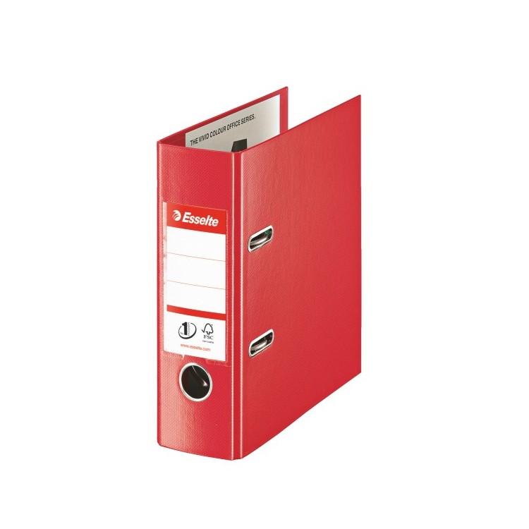 Biblioraft dublu plastifiat A5 7.5cm rosu, ESSELTE Standard