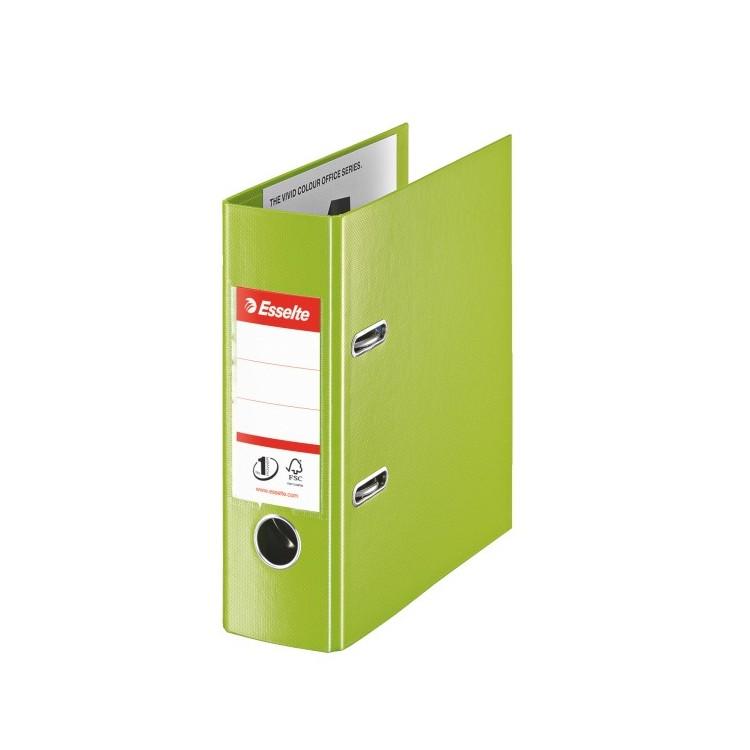 Biblioraft dublu plastifiat A5 7.5cm verde, ESSELTE Standard Vivida