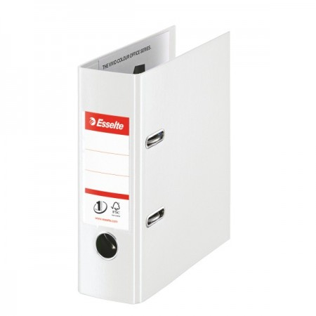 Biblioraft dublu plastifiat A5 7.5cm alb, ESSELTE Standard Vivida