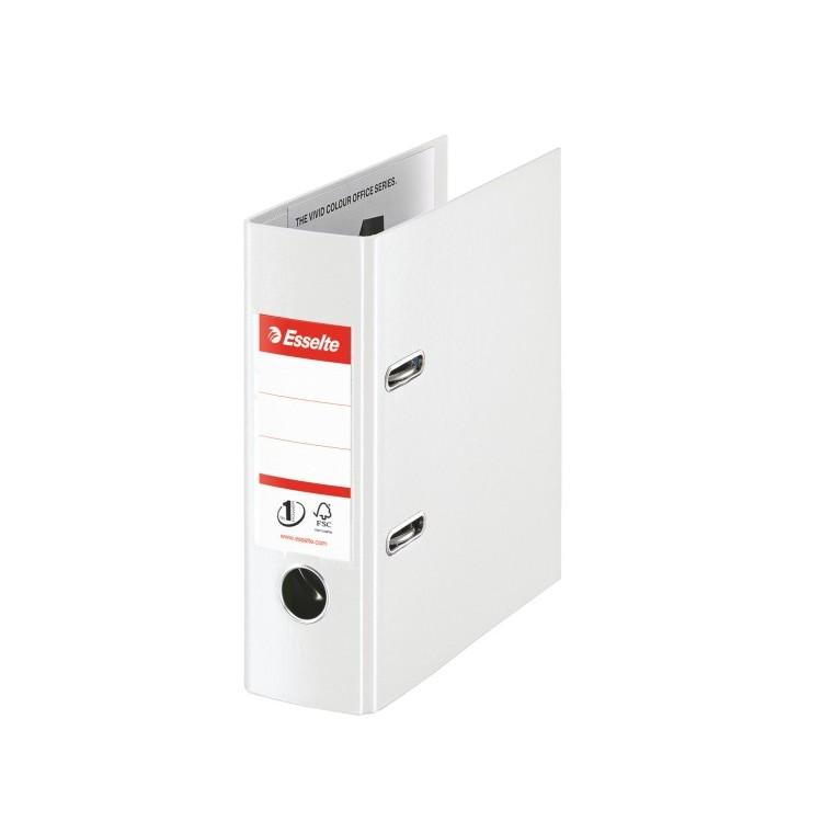 Biblioraft plastifiat A5 7.5cm alb, ESSELTE Standard