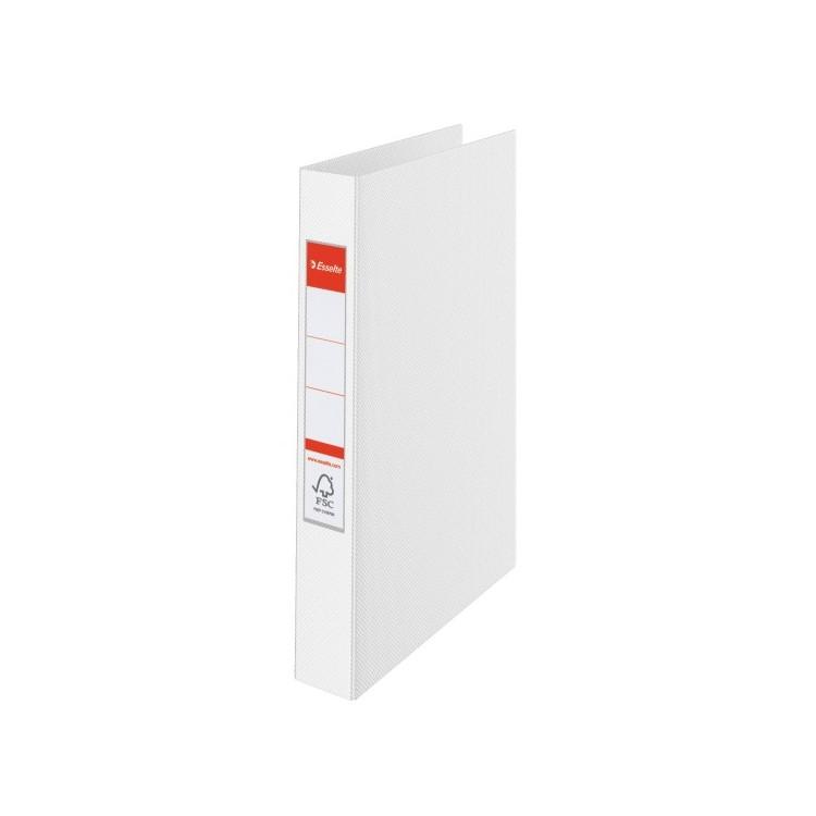 Caiet mecanic 2 inele 35mm PVC alb, ESSELTE Standard