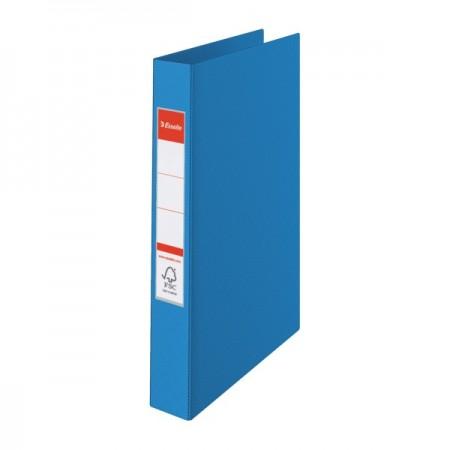 Caiet mecanic 4 inele 35mm PVC albastru, ESSELTE Standard Vivida