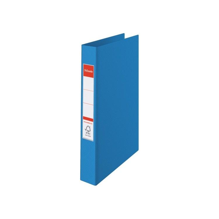 Caiet mecanic 4 inele 35mm PVC albastru, ESSELTE Standard