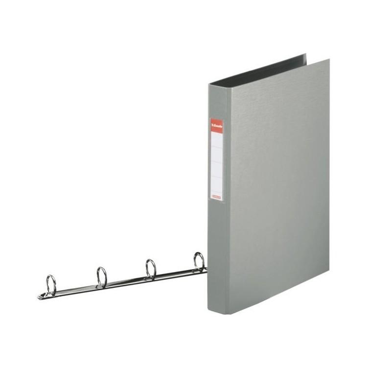 Caiet mecanic 4 inele 35mm PVC gri, ESSELTE Standard