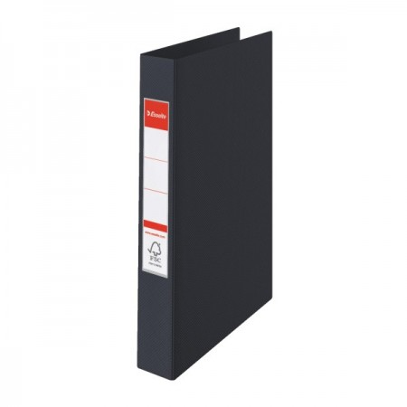 Caiet mecanic 4 inele 35mm PVC negru, ESSELTE Standard Vivida