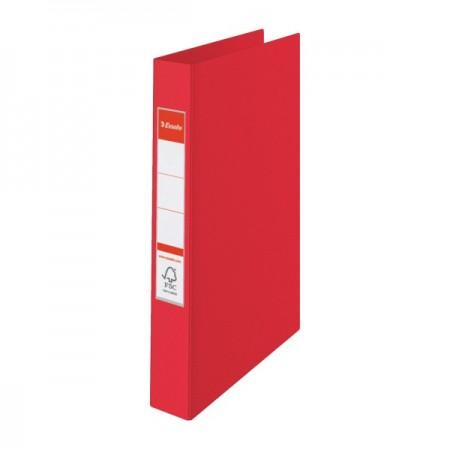 Caiet mecanic 4 inele 35mm PVC rosu, ESSELTE Standard Vivida