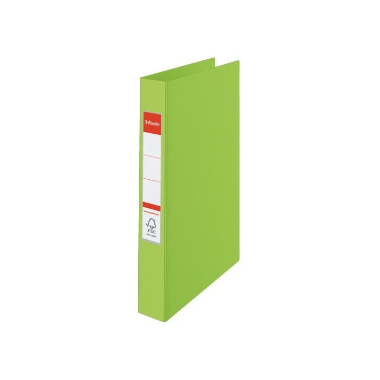 Caiet mecanic 4 inele 35mm PVC verde, ESSELTE Standard
