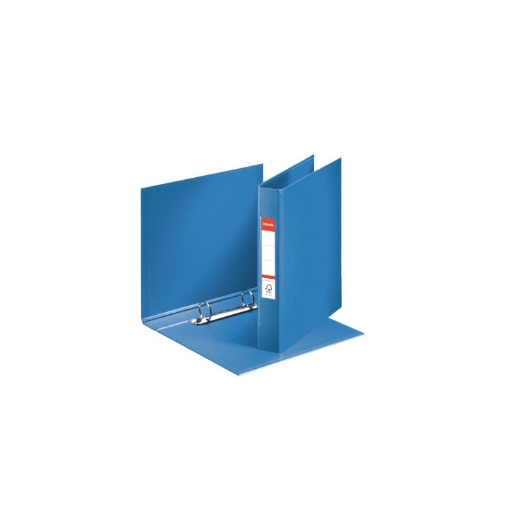 Caiet mecanic A5 2 inele 35mm PVC albastru, ESSELTE Standard