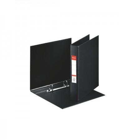 Caiet mecanic A5 2 inele 35mm PVC negru, ESSELTE Standard