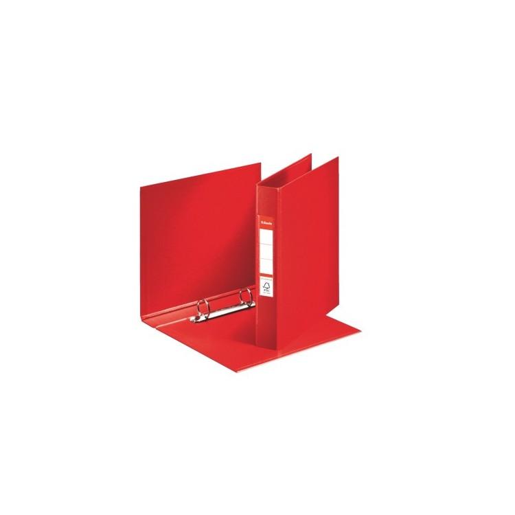 Caiet mecanic A5 2 inele 35mm PVC rosu, ESSELTE Standard
