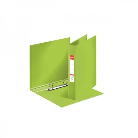 Caiet mecanic A5 2 inele 35mm PVC verde, ESSELTE Standard