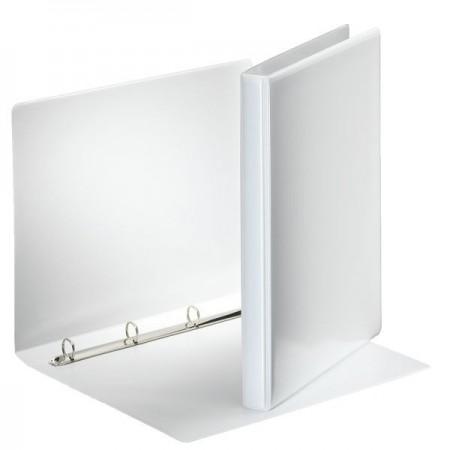 Caiet mecanic cu buzunar 4 inele 30mm PP alb, ESSELTE Panorama