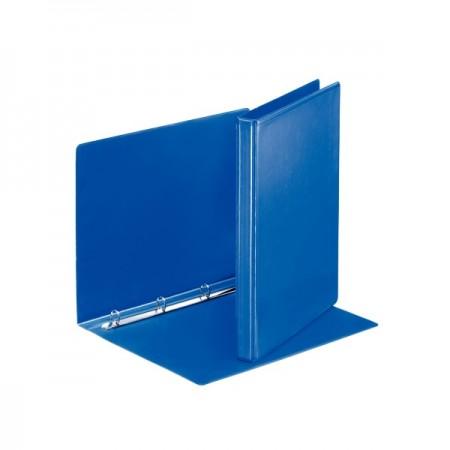 Caiet mecanic cu buzunar 4 inele 30mm PP albastru, ESSELTE Panorama