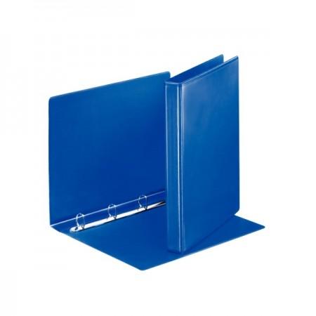 Caiet mecanic cu buzunar 4 inele 38mm albastru, ESSELTE Panorama